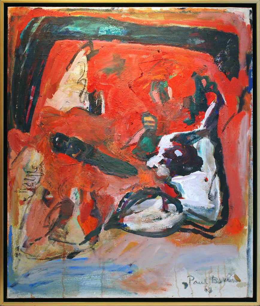 Paul Burlin Abstract Painting - In Evidence