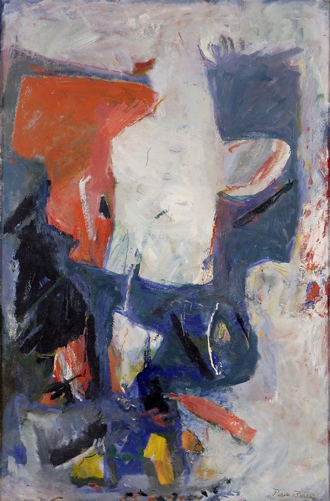 Paul Burlin Abstract Painting - White Phantom
