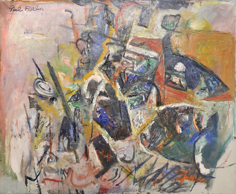 Paul Burlin Abstract Painting - The Pigeon Does Not Fly