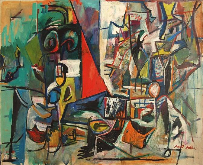 Paul Burlin Abstract Painting - The Empirical Eye