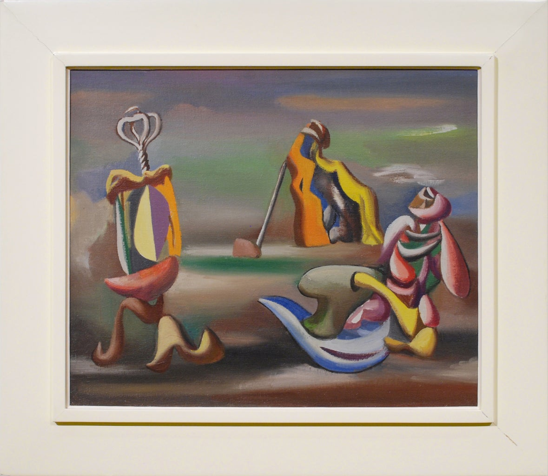 Surrealist Arrangement - Painting by Jan Matulka