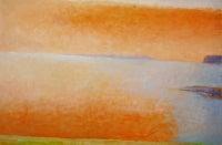 Orange Cloud Over the Adriatic Sea