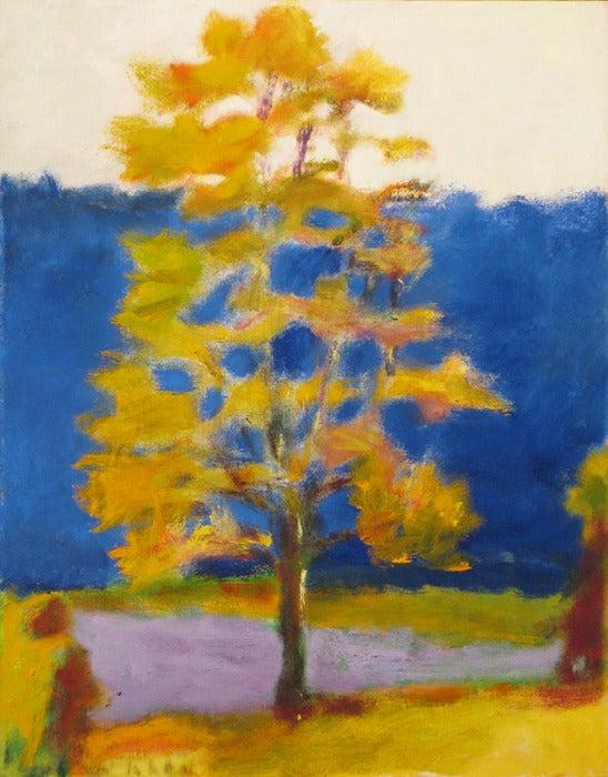 Wolf Kahn Blue Barn Painting