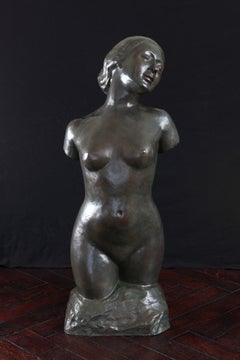 Bronze Female Torso by Rudolf Kaesbach, circa 1905