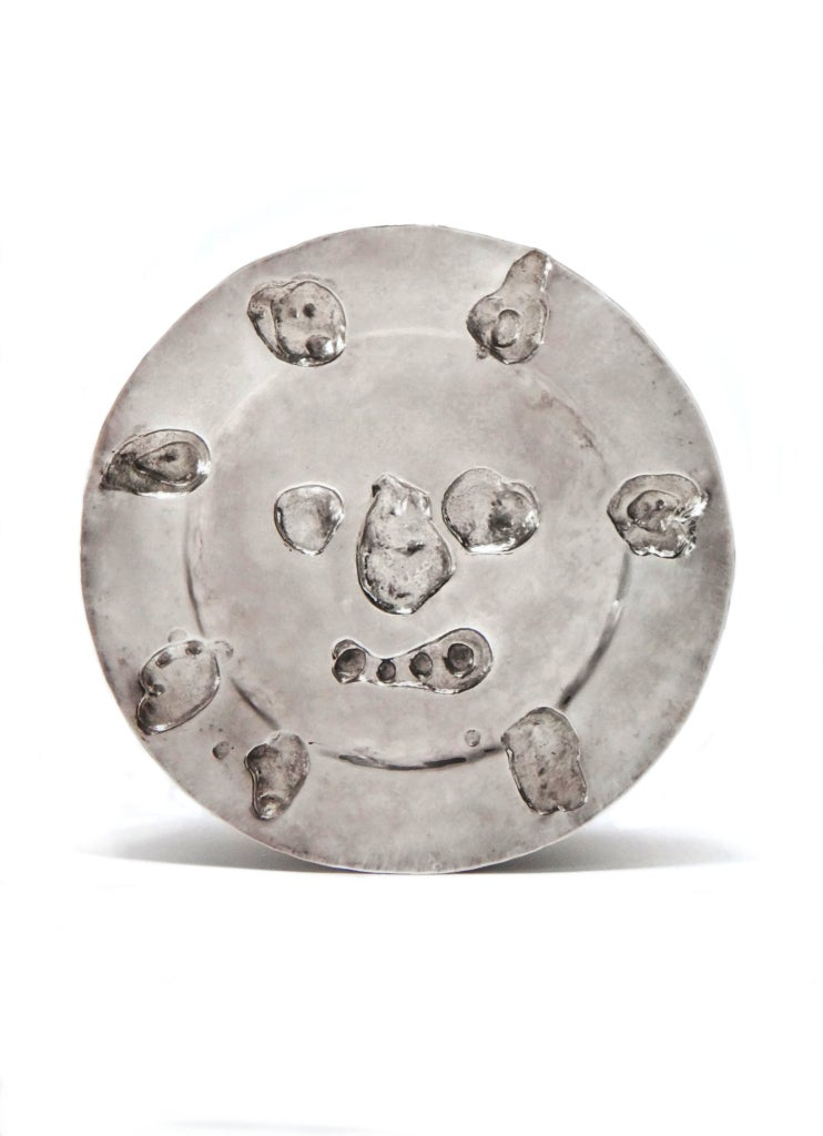 Pablo Picasso Silver Plate Le visage aux taches ( Face with Stains ), 1957  - Art by Pablo Picasso