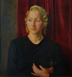 Werner Peiner Portrait of Martha Quandt, Oil Painting 1926