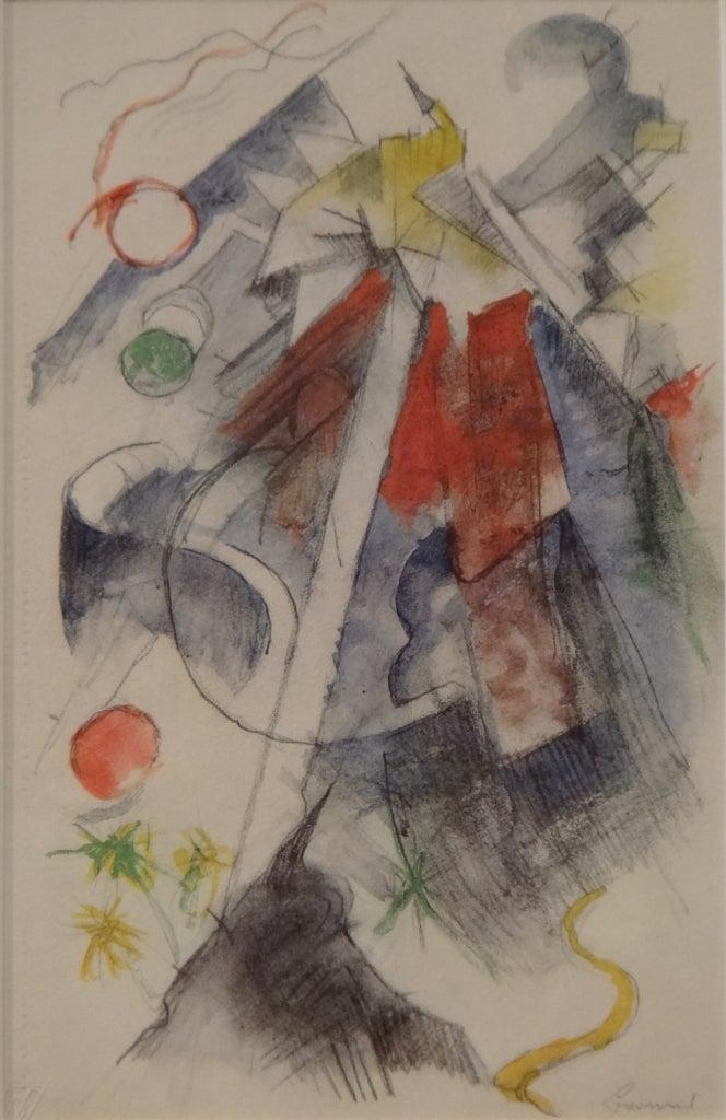 """Landscape"", Helio Etching by Franz Marc"