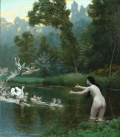 Leda and the Swan by Jean-Leon Gerome