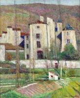 Painting by Victor Charreton, Maison Fonte de La Tour Fondue