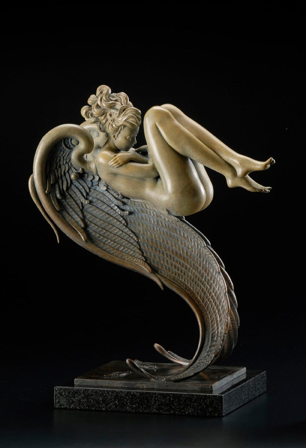 Michael Parkes Angel Of August Sculpture At 1stdibs