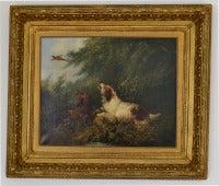 Spaniels Flushing A Pheasant attrib G Armfield