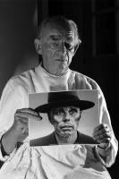 Arno Breker Holding a Picture of Joseph Beuys