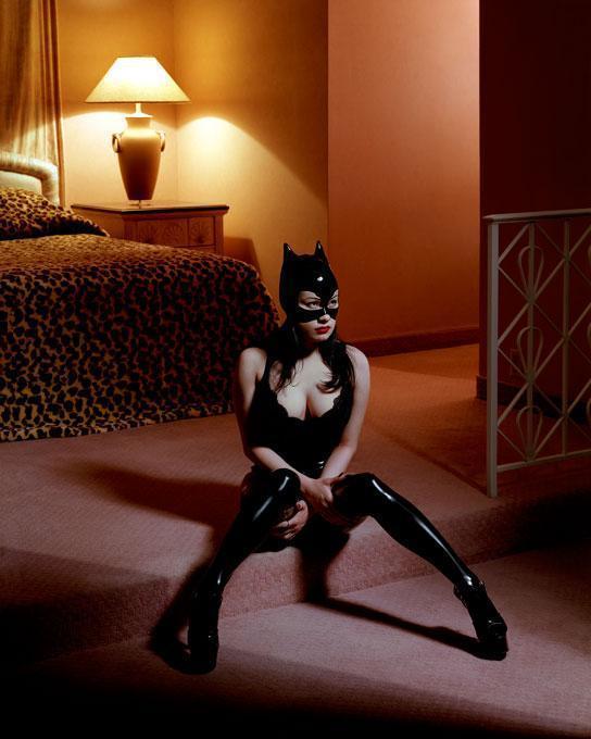 Breaunna in Cat Mask, Las Vegas, Hilton
