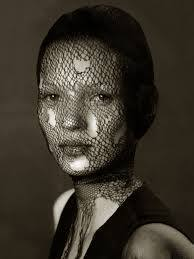 Kate Moss in torn veil