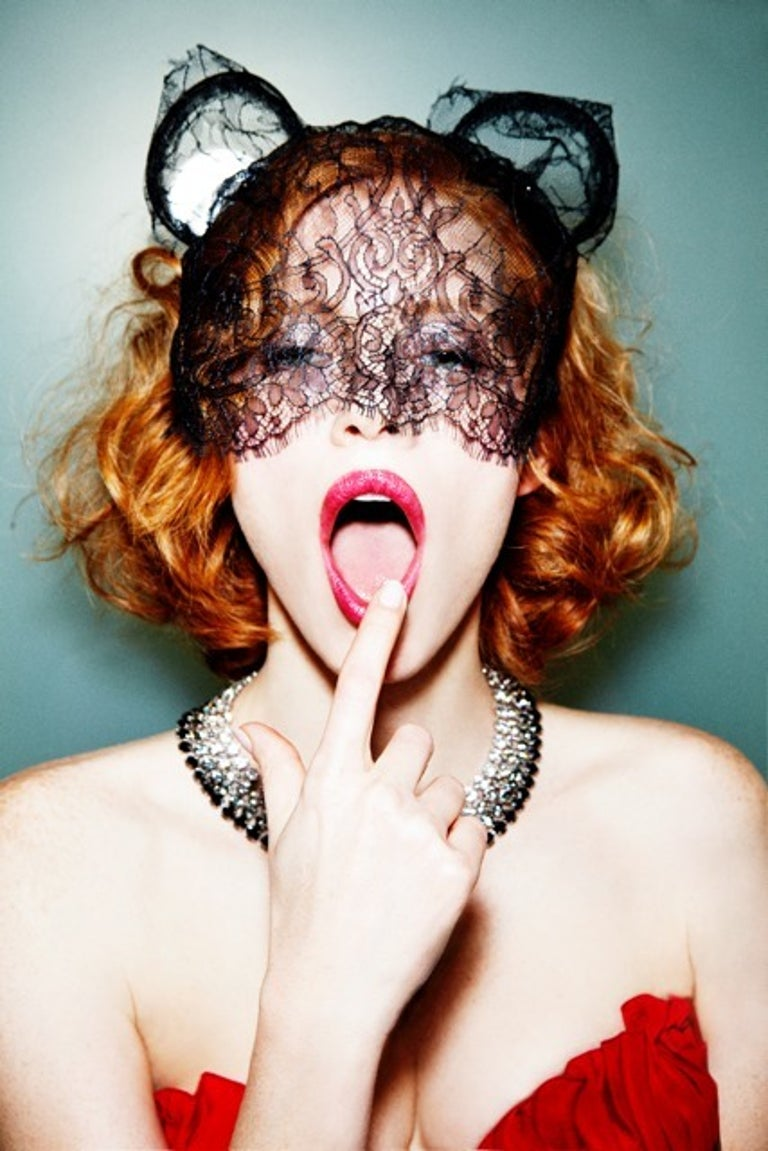 Ellen von Unwerth Color Photograph - Meow, Jessica Chastain