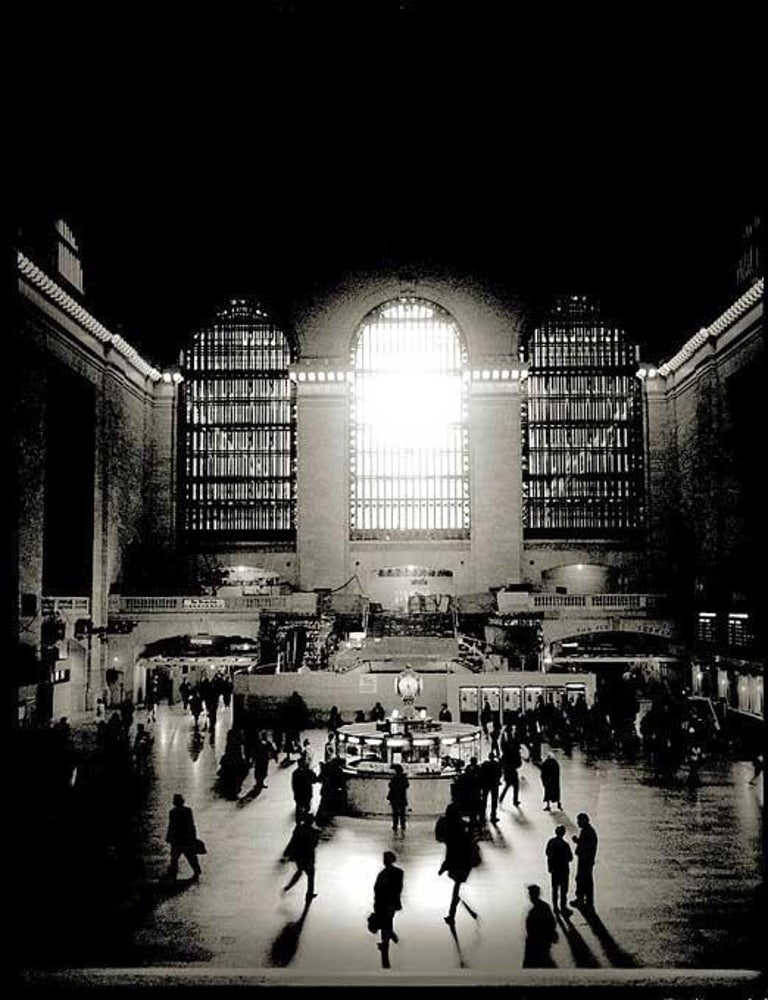 Andreas H. Bitesnich Black and White Photograph - Grant Central Terminal