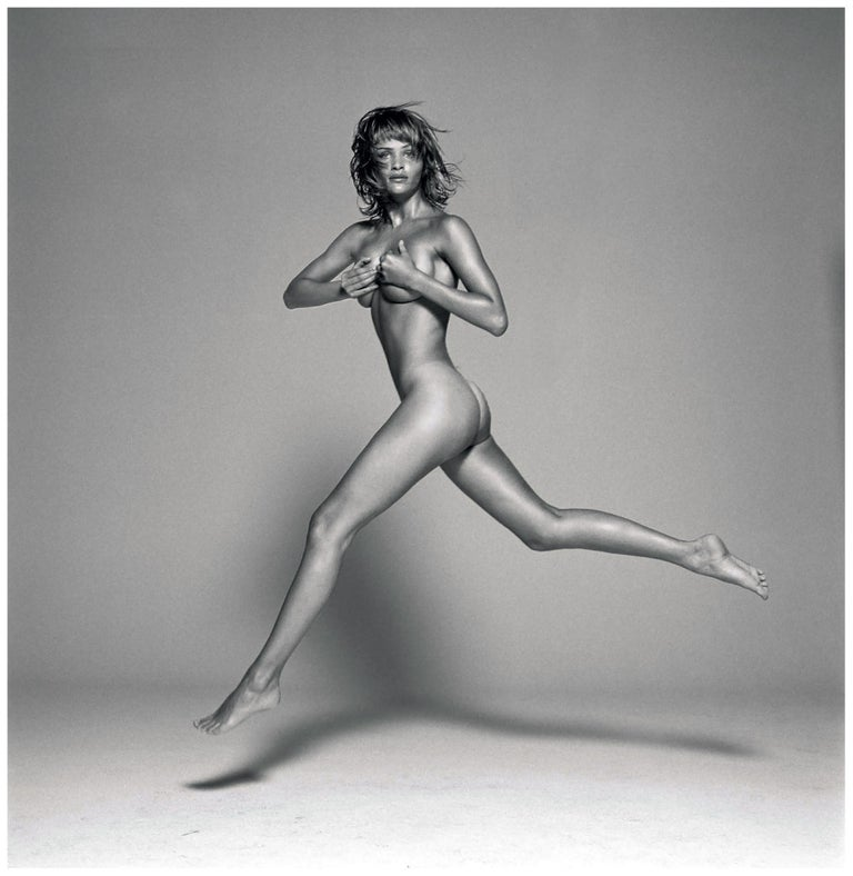 Michel Comte Portrait Photograph - Helena Christensen II - nude portrait of the Danish supermodel