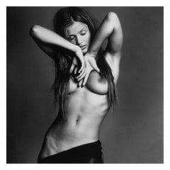Helena Christensen III - iconic nude portrait of the supermodel in b&w