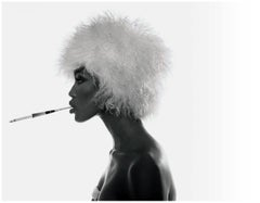 Naomi Campbell - b&w portrait of the supermodel