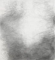Alto, Large Abstract Graphite Drawing Black and White