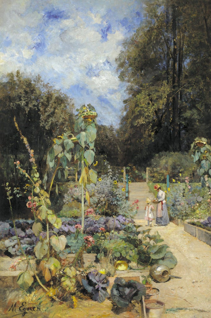 Marie Egner Home Garden In Plankenberg Painting At 1stdibs