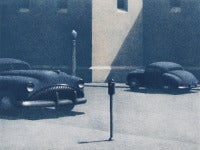 Two Blue Cars in L.A.