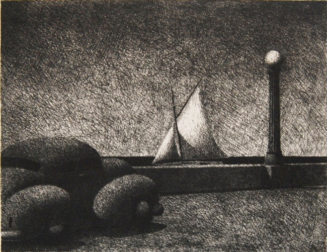 Difficult Crossing, limited edition etching
