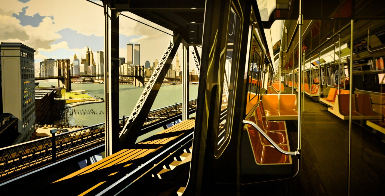 Richard estes d train print at 1stdibs for Allart center