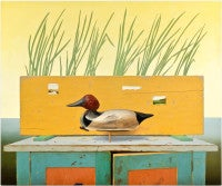 Duck Blind, trompe l'oeil painting