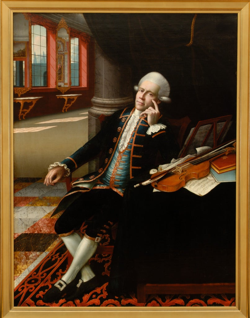 Portrait of a Violinist - Painting by Unknown
