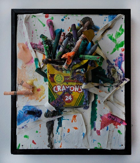 Greg haberny burn all crayons painting at 1stdibs for Hendrickson s fine jewelry