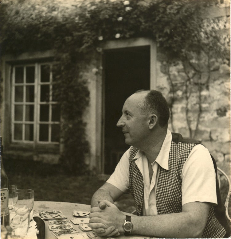 Christian Dior at his millhouse. DIANA VREELAND PRIVATE COLLECTION.