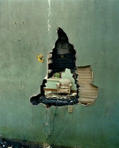 Green Wall with Hole, Bogalusa, LA