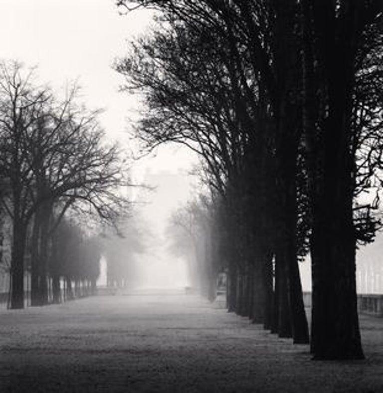Michael Kenna Black and White Photograph - Tuileries Gardens, Study 2, Paris