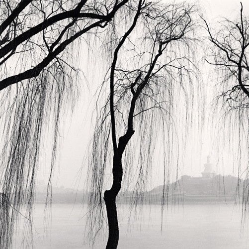 Michael Kenna Landscape Photograph - White Stupa, Beijing