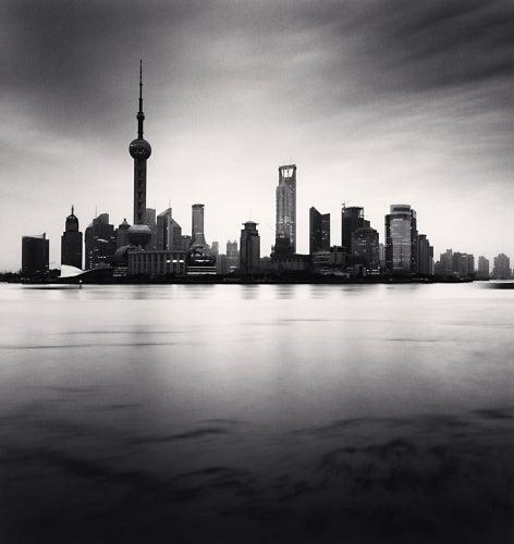 Michael Kenna Landscape Photograph - Skyline, Shanghai, Study 3