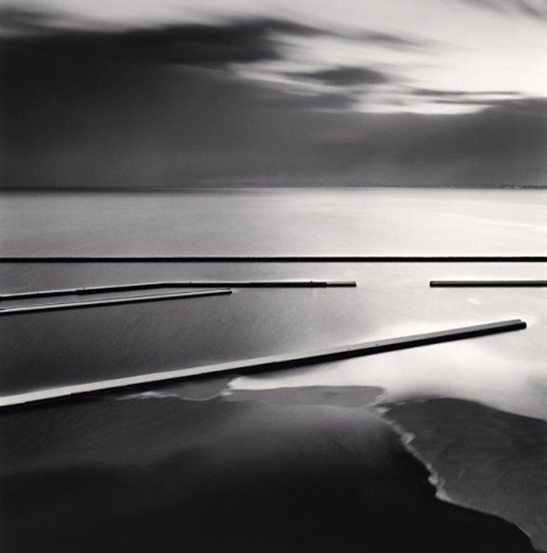 Michael Kenna Black and White Photograph - Sadakichi's Docks, Otaru, Hokkaido, Japan