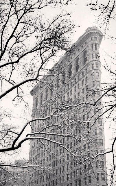 Michael Kenna Landscape Photograph - Flatiron Building, Study 2, New York, New York