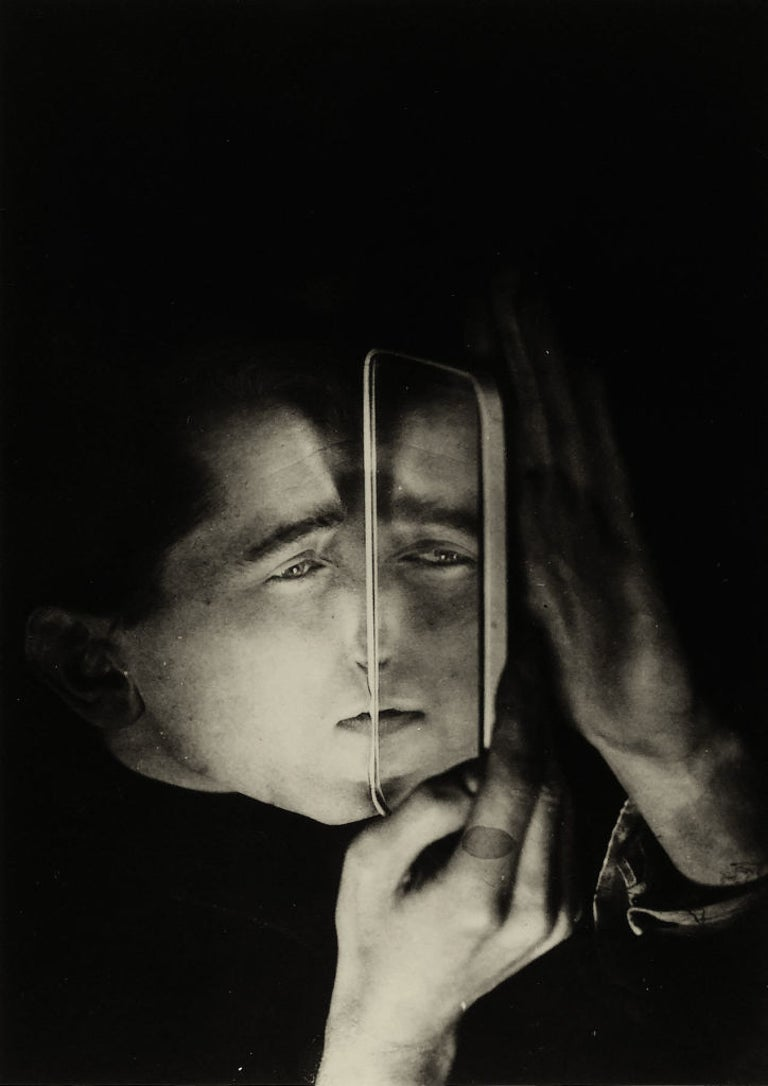Lotte Stam-Beese Black and White Photograph - Albert Braun with Mirror