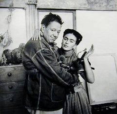 Frida and Diego with Gas Mask