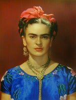 Nickolas Muray - Frida Kahlo in Blue Silk Dress