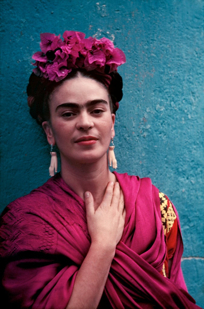 Nickolas Muray Portrait Photograph - Frida with Picasso Earrings