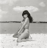 Bettie Page in 2-piece Leopard Print Suit, Key Biscayne, FL