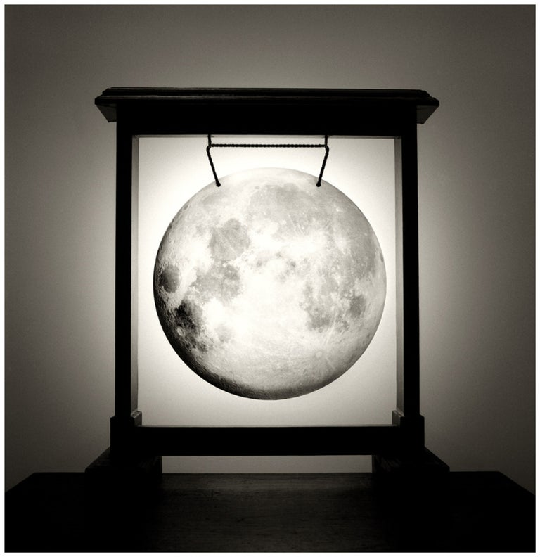 Chema Madoz Black and White Photograph - Untitled (Moon in Gong)