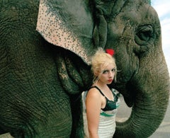 Natalie and Elephant, New Jersey, From World of Wonder series