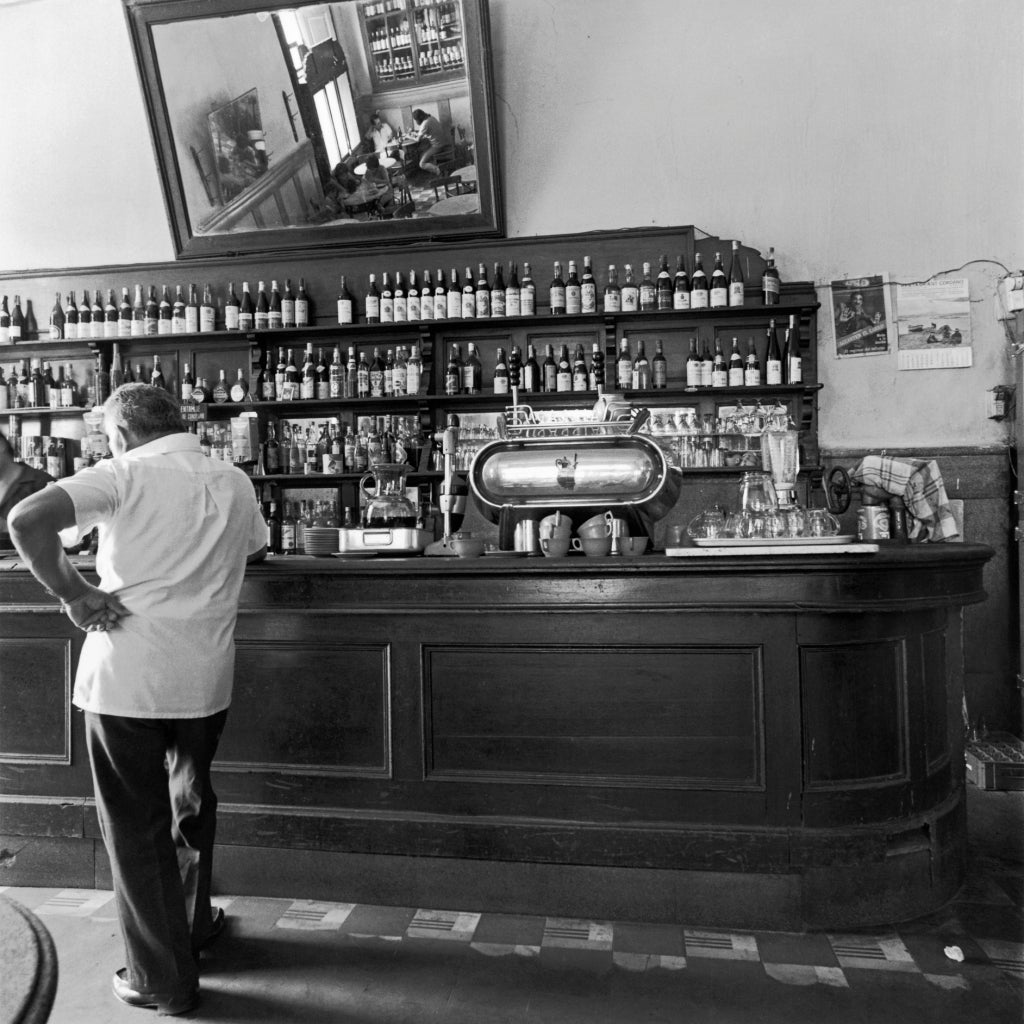 Mario Algaze Black and White Photograph - Cantina, Lima, Peru