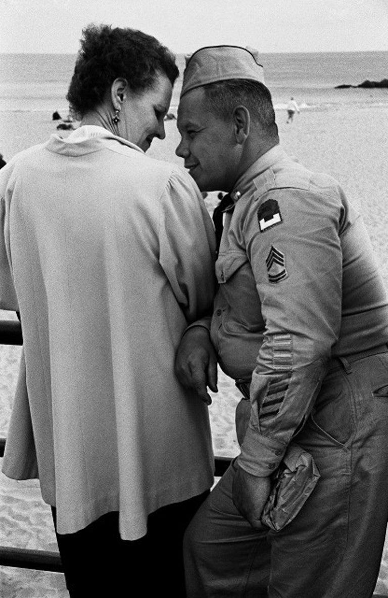 Harold Feinstein Black and White Photograph - Love on the Boardwalk, Coney Island
