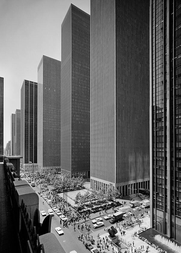 Ezra Stoller Exxon Building On Sixth Avenue Harrison