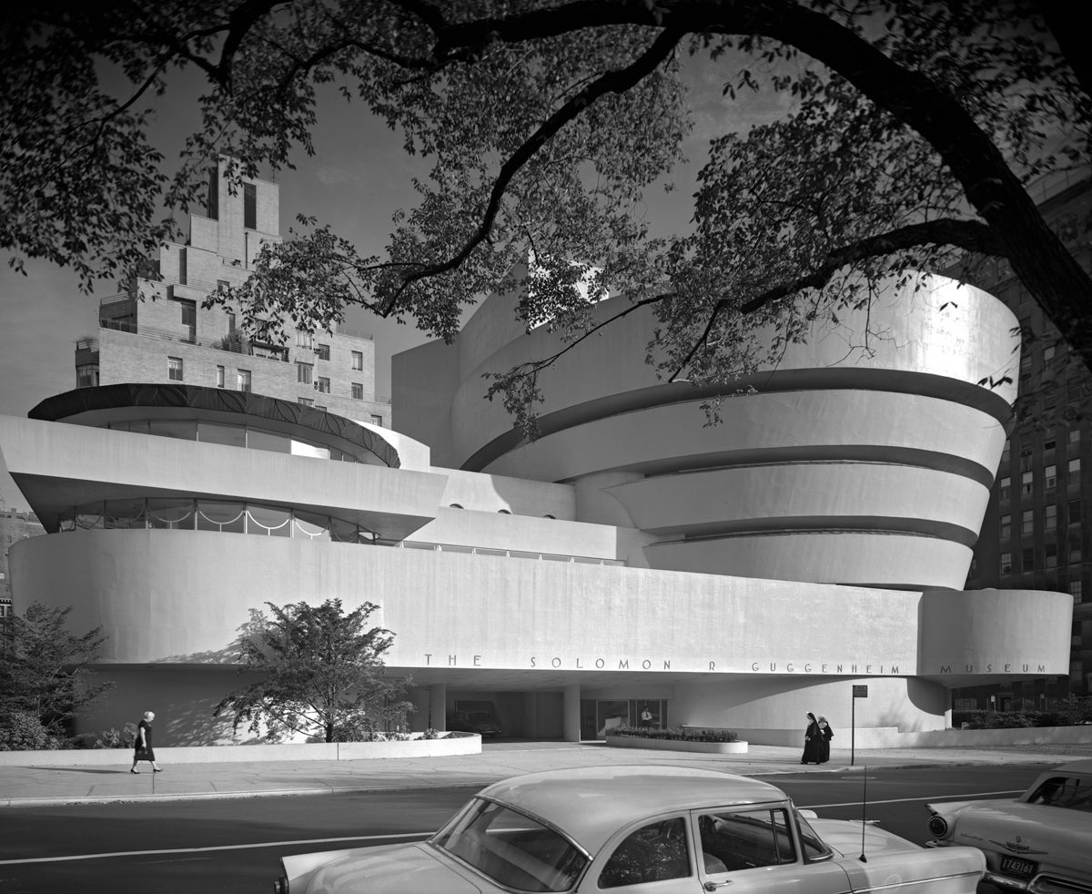Ezra stoller guggenheim museum frank lloyd wright new for Architecture 1950