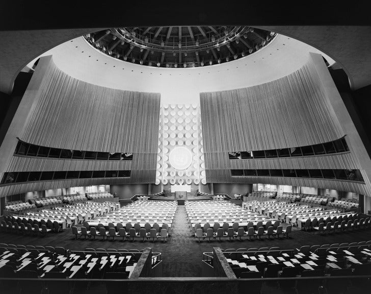 Ezra Stoller United Nations General Assembly International Team Of Architects Led By Wallace